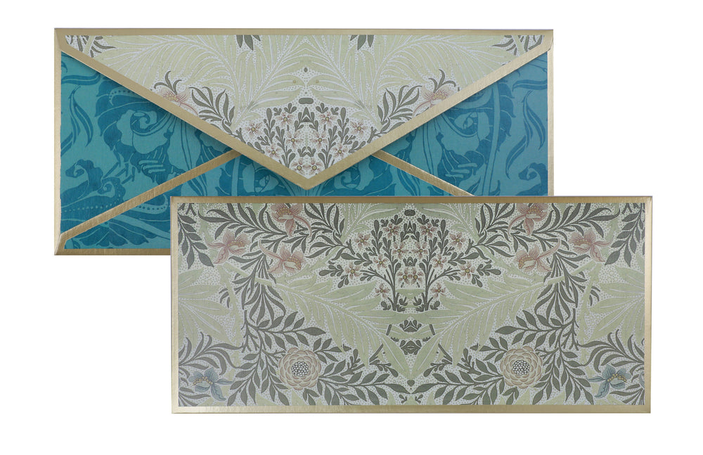 Blue Floral Gift Envelope Customised