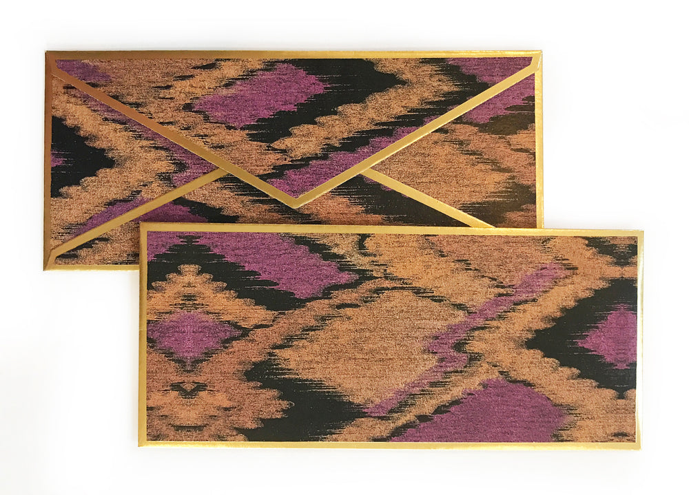 Ikat Purple Gift Envelope