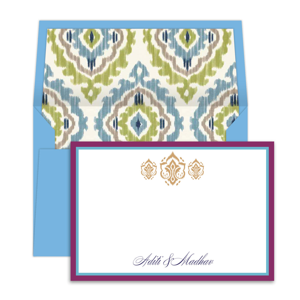 Ikat French Blue