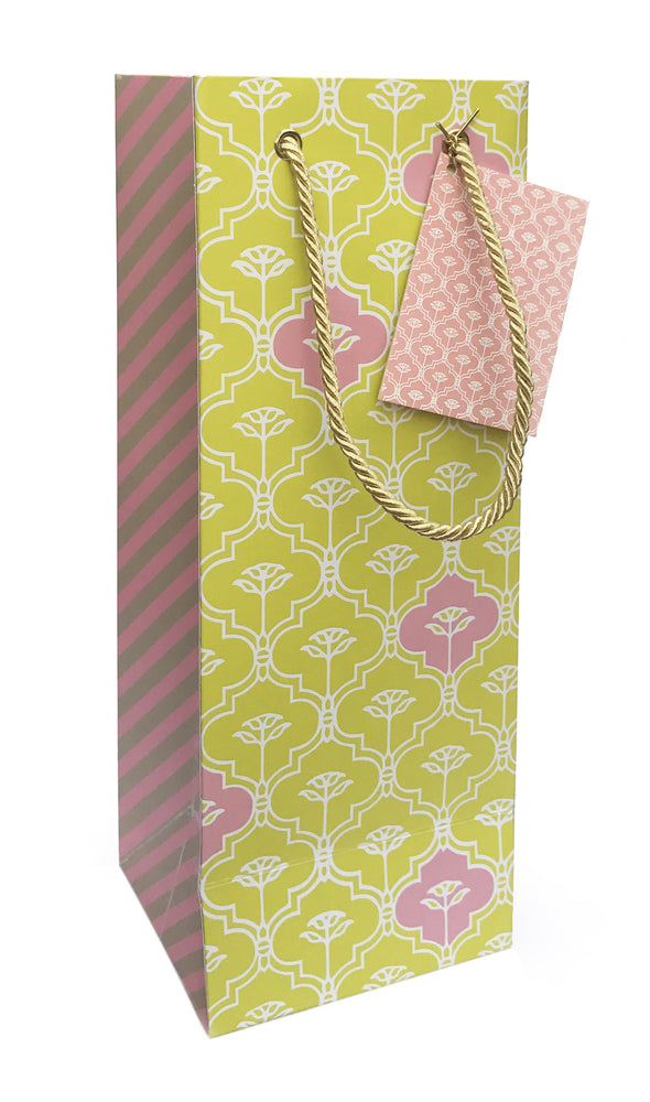 Lotus Green Wine Bag