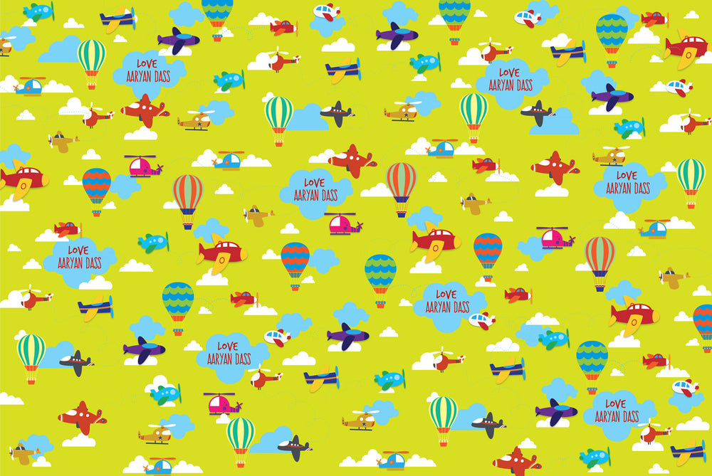 Planes in the sky Customized 100 Wrapping Sheets