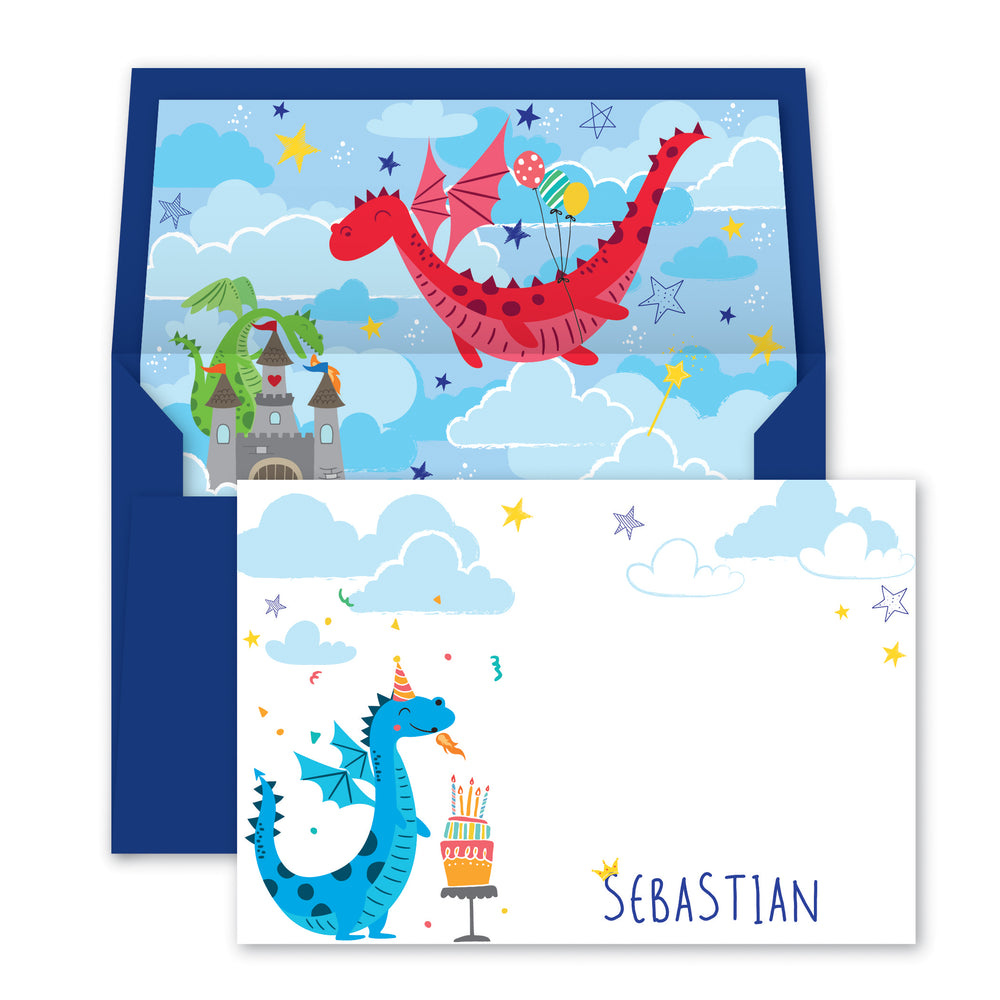 Magical Dragons Notecards