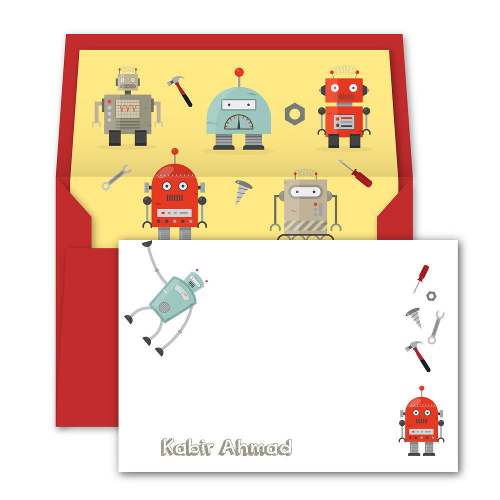 Robot Notecards