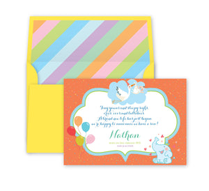 Load image into Gallery viewer, Rainbow Baby Announcement, Print Card