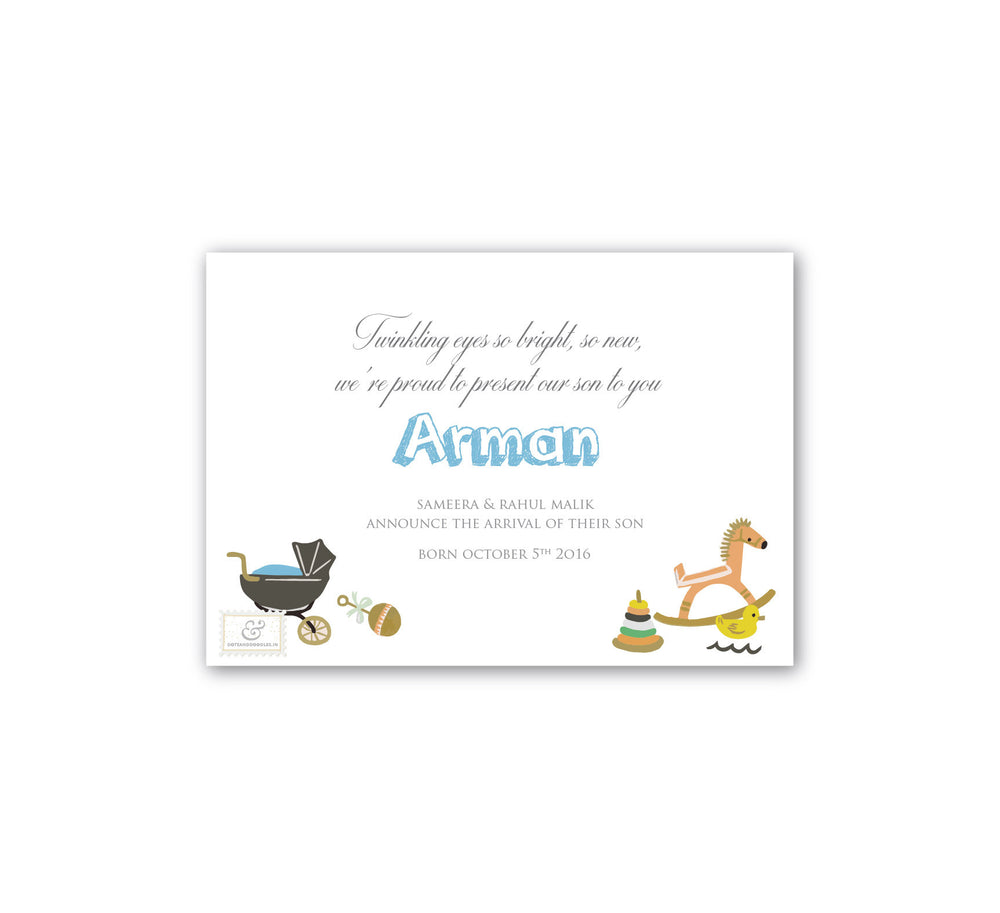 Bundle of joy, Baby announcement E-card