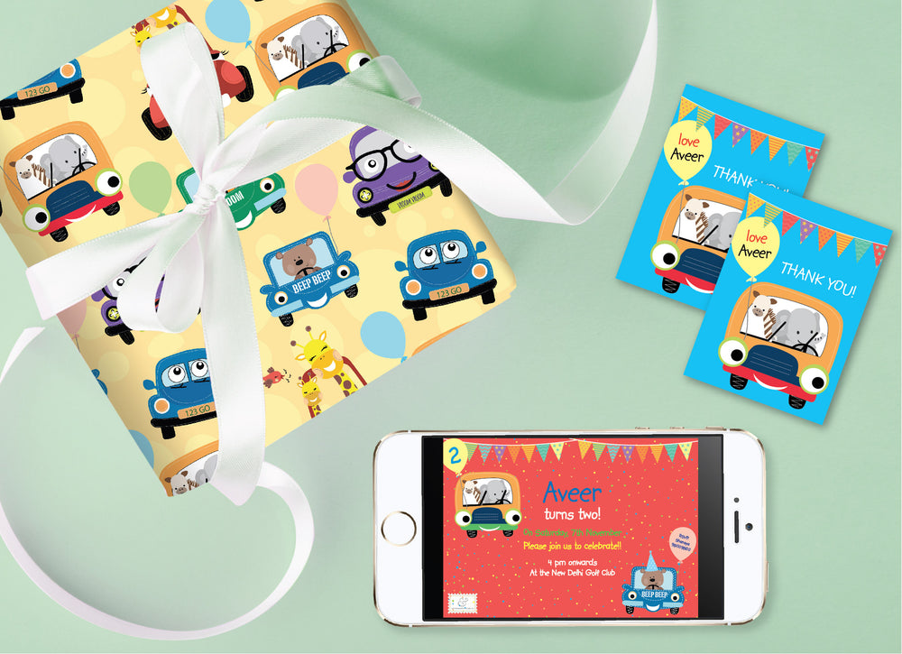 Cute Car Birthday Bundle