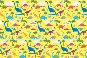 Dinosaur Customized 100 Wrapping Sheets