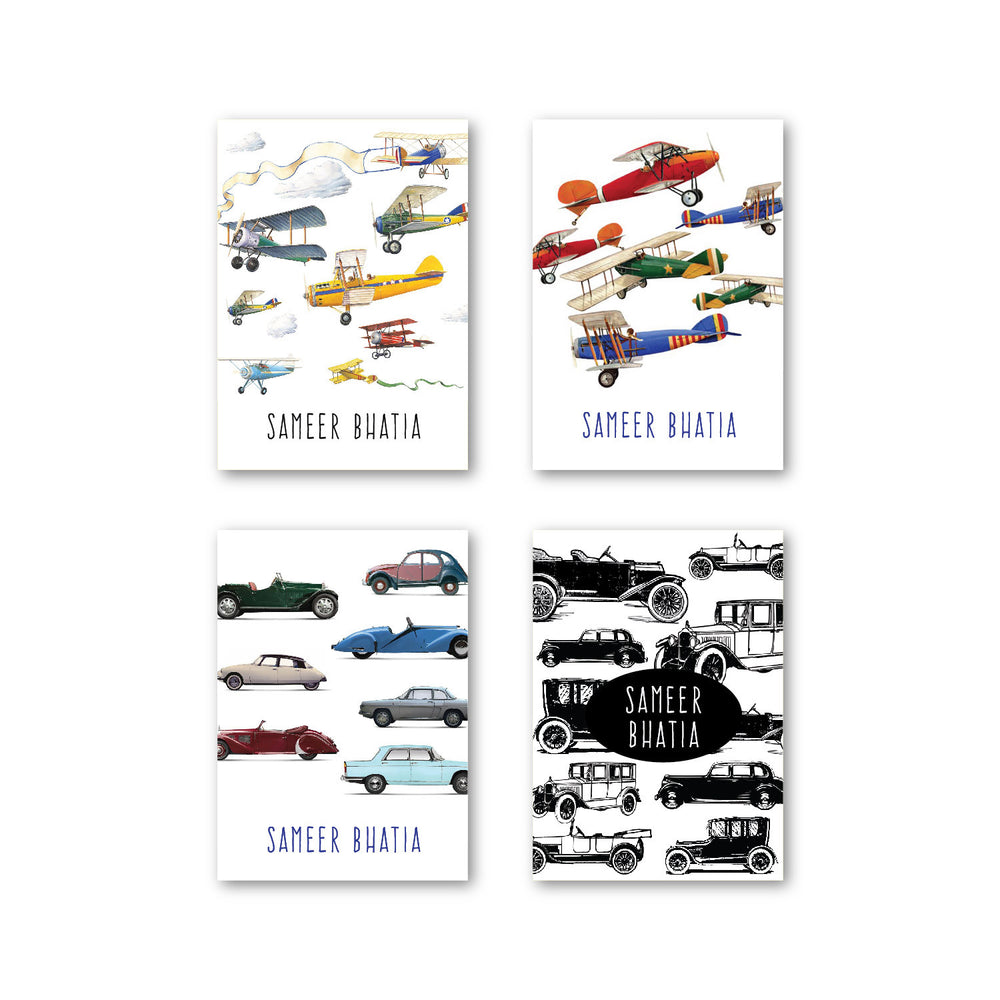 Vintage Cars Set of 40 Gift tags