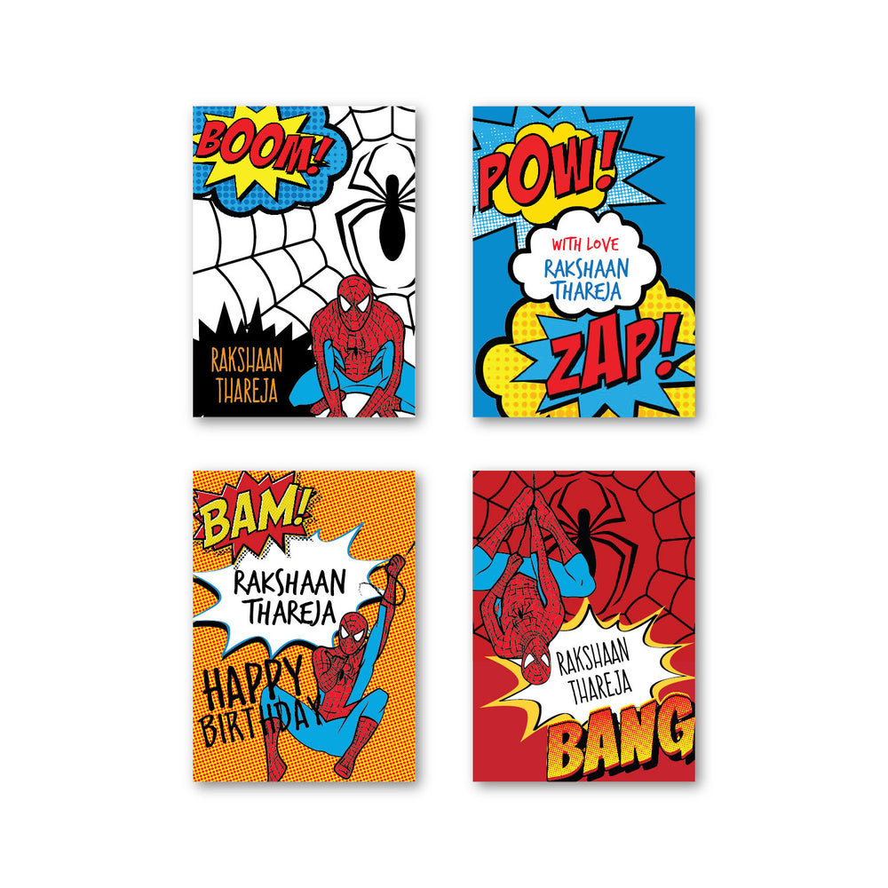 Spiderman Set of 40 Gift Tag
