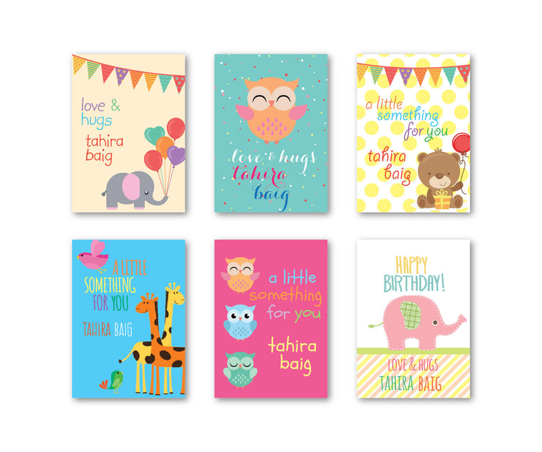 Kids gift tags dots and doodles dots and doodles design baby assorted set of 90 gift tags negle Gallery