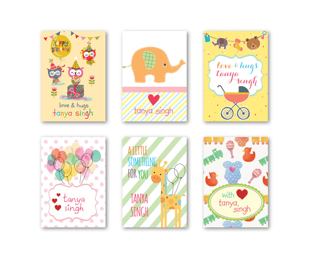 Adorable Party Set Of 90 Gift Tags