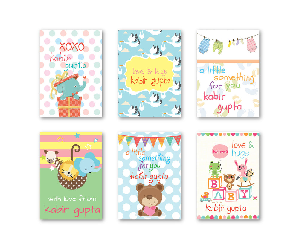 Baby Assorted Party Set Of 90 Gift Tags