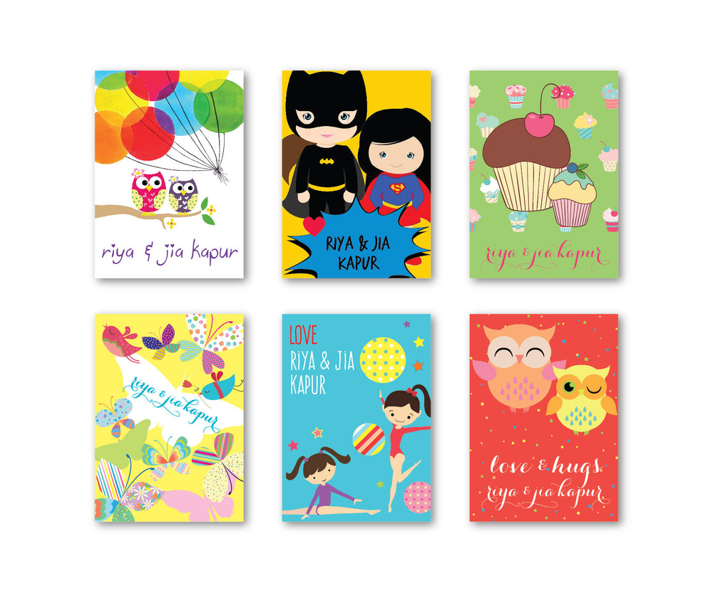 Girl Cute Party Set of 90 Gift tags