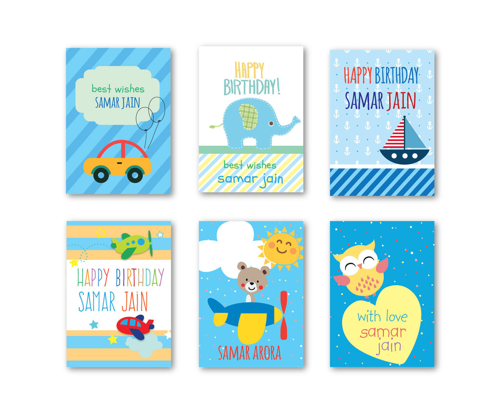 Blue Party Set of 90 Gift tags