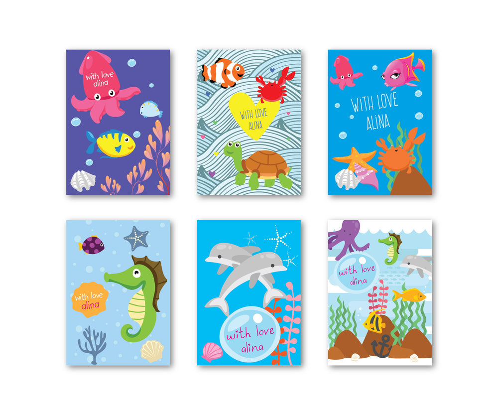 Under the Sea Set of 90 Gift tags