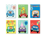 Cute Car Set of 90 Gift tags