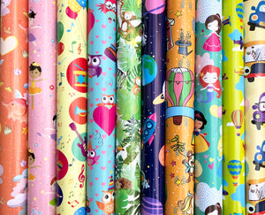Assorted Wrapping Paper Roll