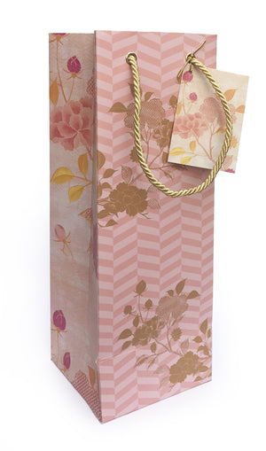 Load image into Gallery viewer, Oriental Pink Wine Bag