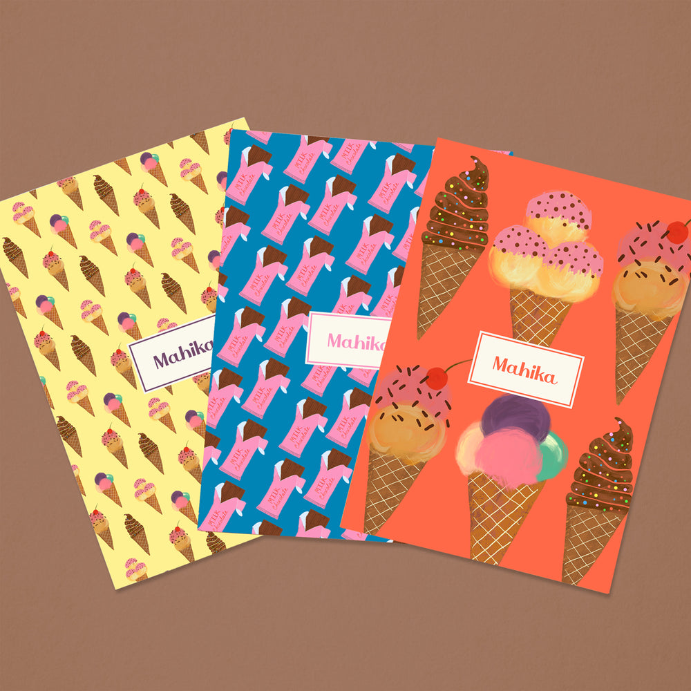 Ice Cream Personalised Folder