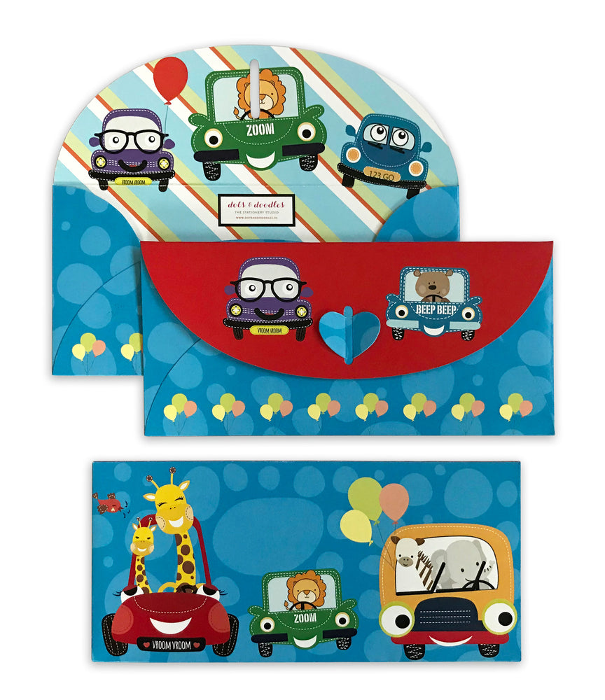 Load image into Gallery viewer, Cute Car 10 Gift Envelopes