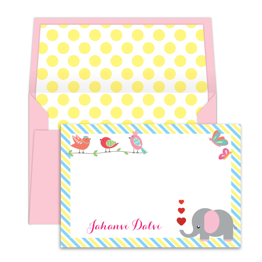 Elephant  Birds Notecards