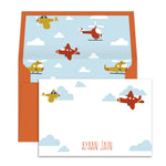 Airplanes in the cloud Notecards
