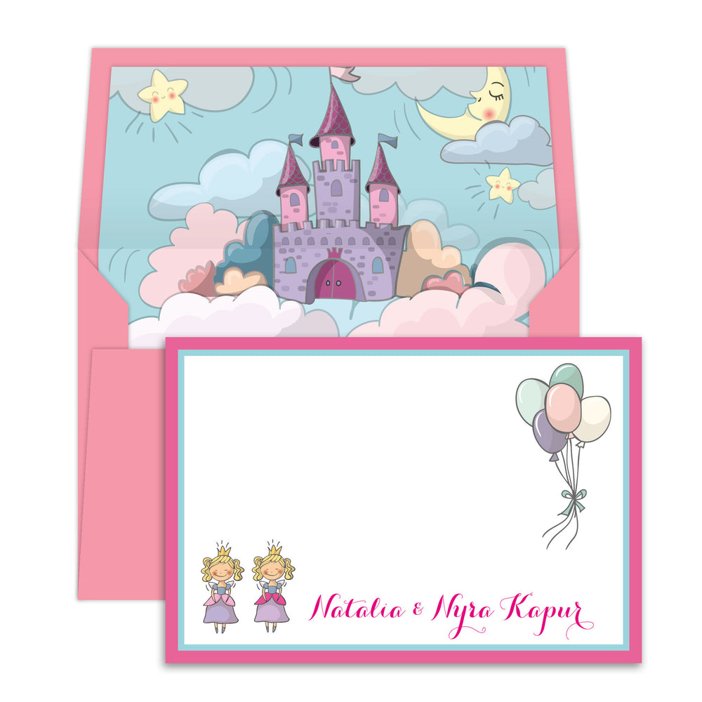 Two Little Princesses Notecard