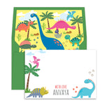 Dinosaur Personalised Notecards