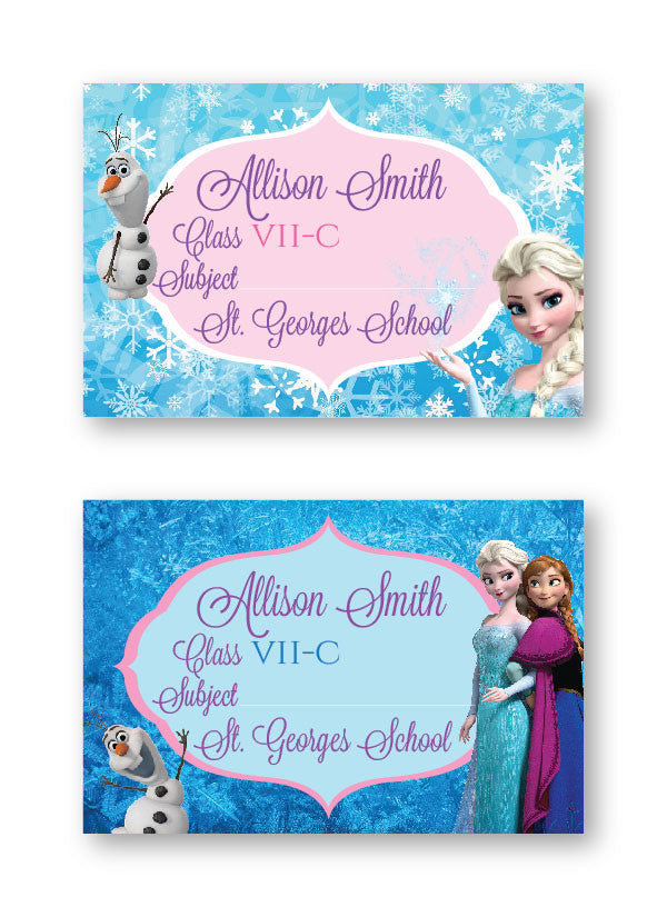 Frozen School Labels
