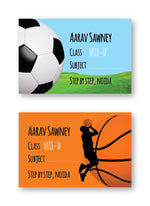 Sports Balls School Labels