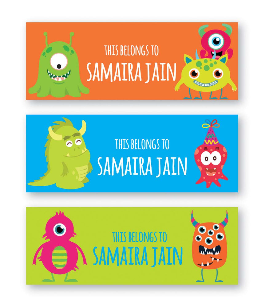 Friendly Monster Book Labels