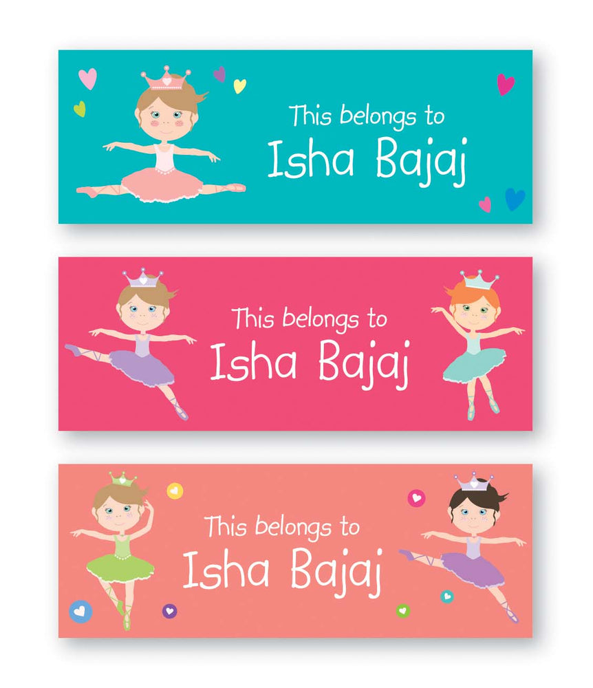 Ballerina Book Labels