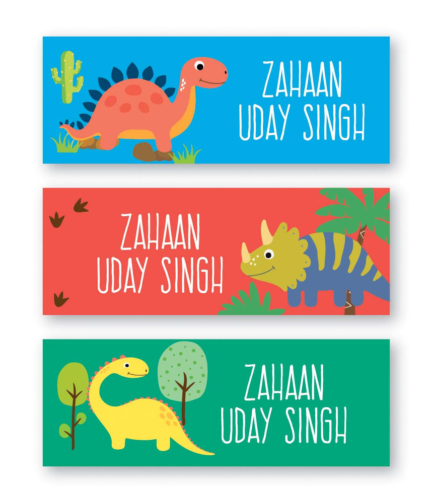 Dinosaur Book Labels