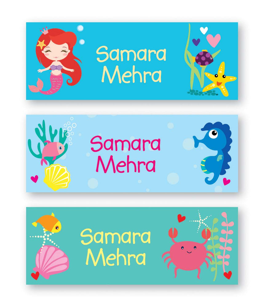 Mermaid Book Labels