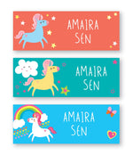 Unicorn Book Labels