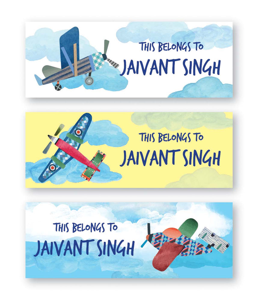 Airplane Book Labels