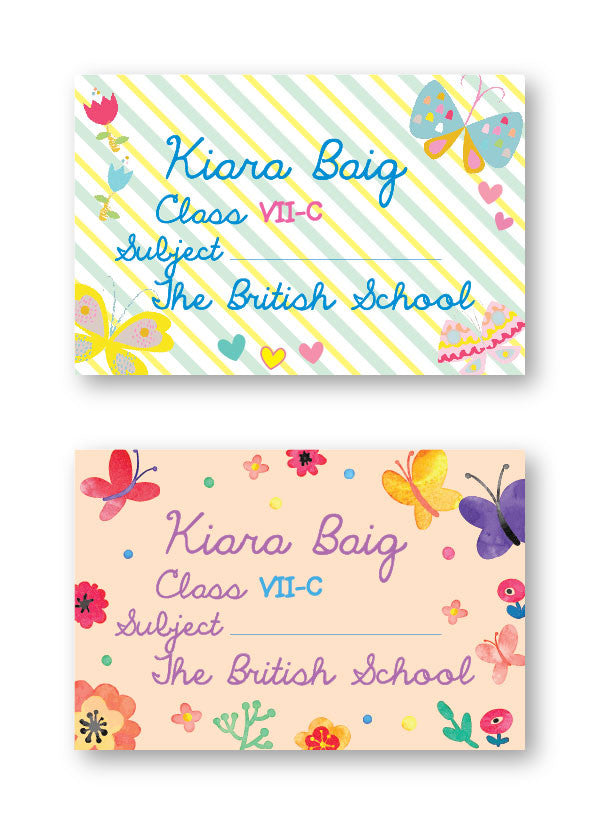 Butterfly School Labels