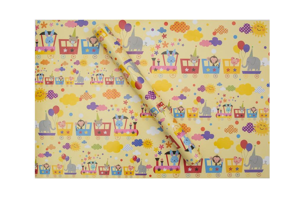 Animal Train Wrapping Sheets