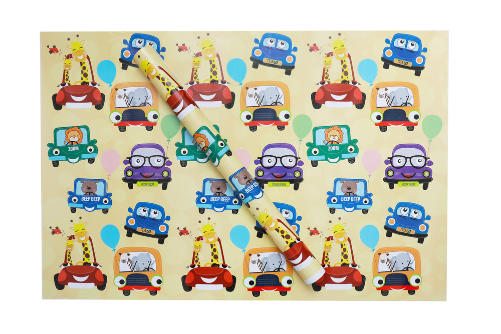Cute Cars Wrapping Sheets
