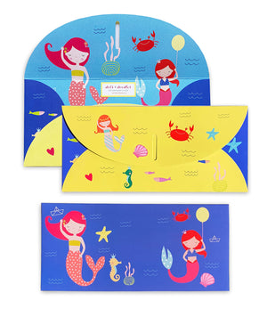 Mermaid 10 Gift Envelopes