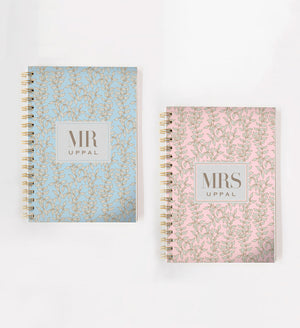 Load image into Gallery viewer, Mr & Mrs Floral Doodle Book Set