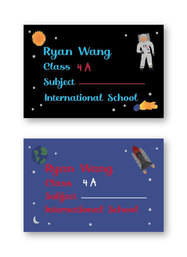 Space School Labels