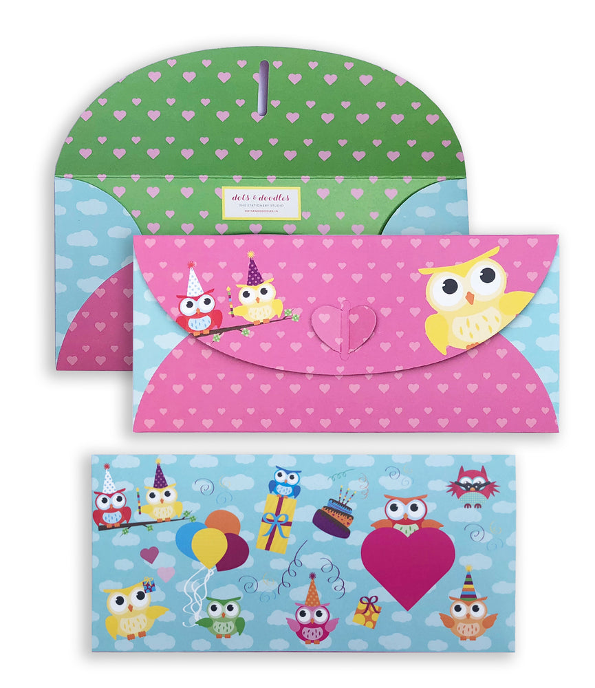 Owl 10 Gift Envelopes
