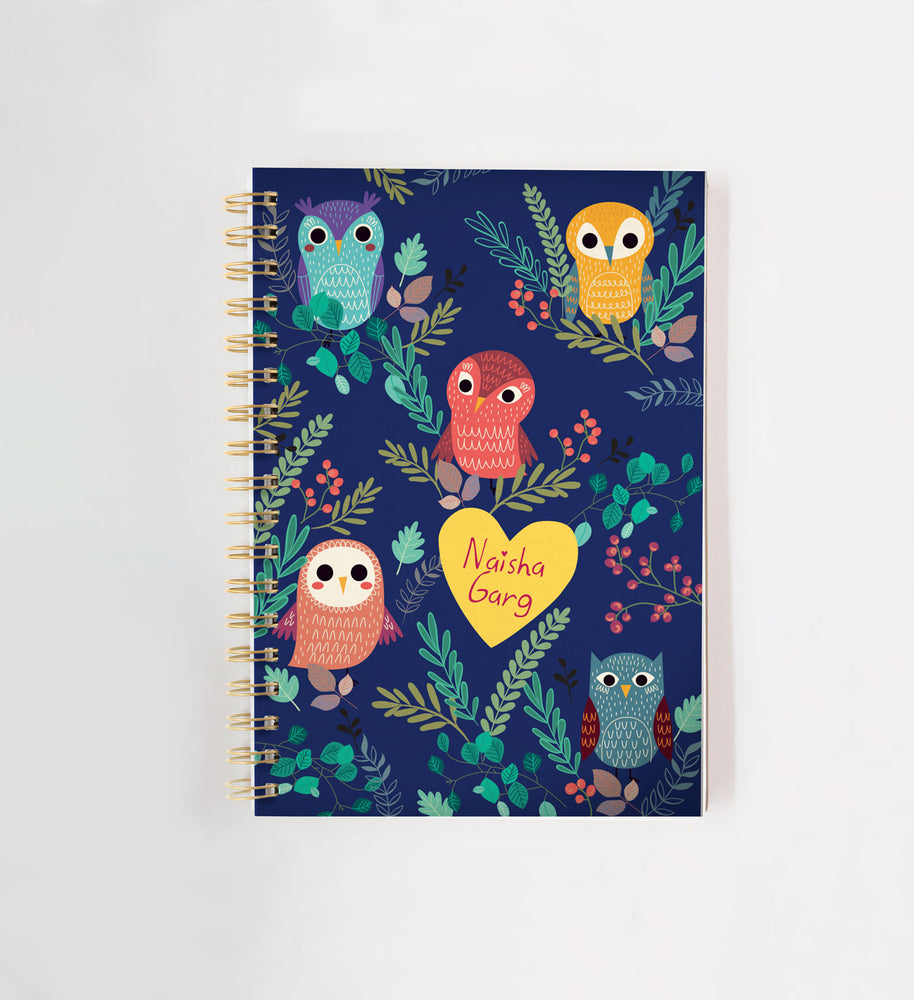 Owl Personalised Doodle Book
