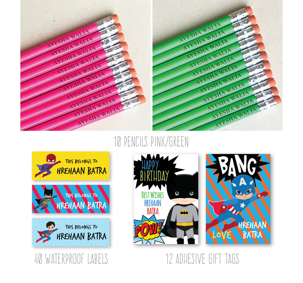 Superhero Stationery Box Set