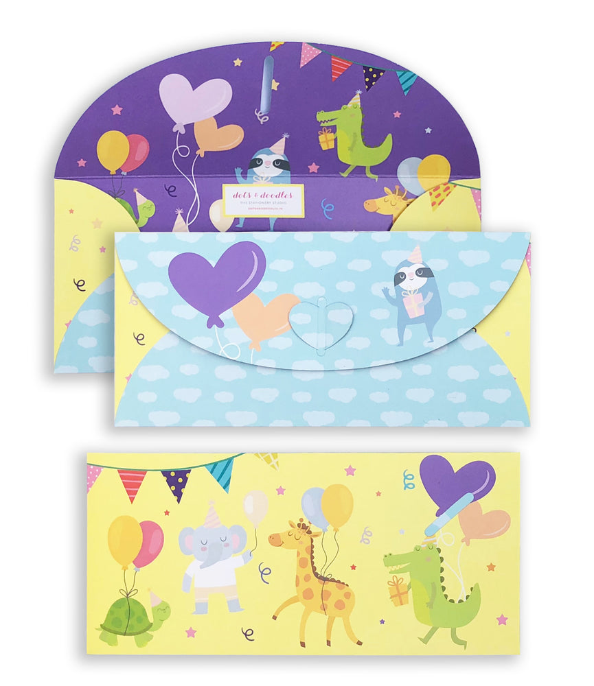 Animals Party 10 Gift Envelopes
