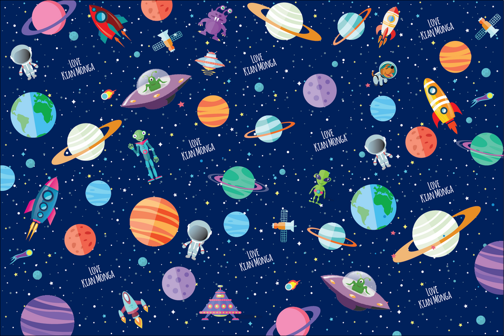 Load image into Gallery viewer, Outer Space Customized 100 Wrapping Sheets