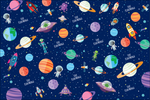 Outer Space Customized 100 Wrapping Sheets
