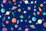 Outer Space Wrapping Sheets