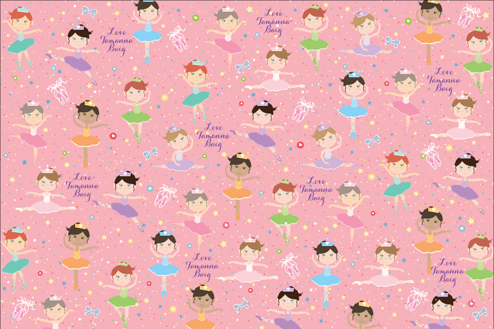 Ballerina Customized 100 Wrapping Sheets